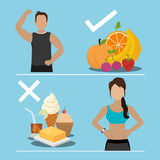 Fitness and healthy food Royalty Free Stock Photo