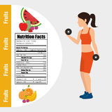 Fitness and healthy food lifestyle Royalty Free Stock Photos
