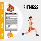 Fitness and healthy food lifestyle Royalty Free Stock Photography