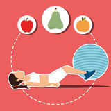 Fitness and healthy food Royalty Free Stock Photography