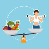 Fitness and healthy food Royalty Free Stock Images
