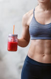 Fitness and healthy lifestyle concept with detox smoothie Royalty Free Stock Photos