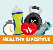 Fitness and healthy lifestyle Stock Image