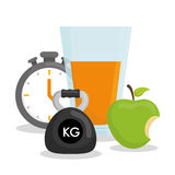 Fitness and healthy lifestyle Royalty Free Stock Image