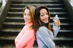 Fitness healthy mixed race women Royalty Free Stock Photography