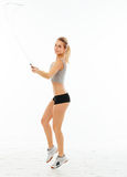 Fitness healthy women exercise in studio isolated Stock Image