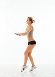 Fitness healthy women exercise in studio isolated Royalty Free Stock Photo