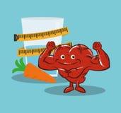 Fitness heart healthy diet nutrition. Vector illustration eps 10 stock illustration