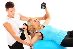 Fitness help Stock Images