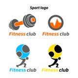 Fitness het embleem van de sportclub Stock Fotografie