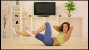 Fitness At Home stock video footage