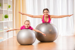 Fitness at home Royalty Free Stock Photo