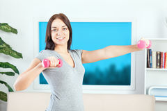 Fitness at home Royalty Free Stock Images