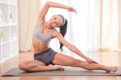 Fitness at home Stock Images