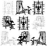 Fitness Home Simulator Gym For Sports Training Royalty Free Stock Photography