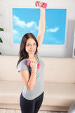 Fitness at home Stock Photography