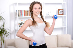 Fitness Home Stock Photo
