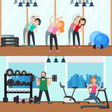 Fitness Horizontal Banners Stock Photography