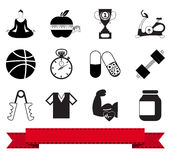 Fitness icon 1 Royalty Free Stock Photos
