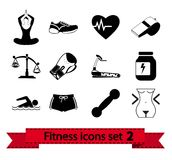 Fitness icon 2 Royalty Free Stock Photo