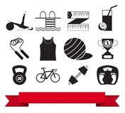 Fitness icon 3 Stock Images