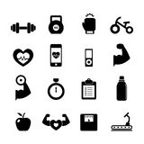 Fitness Icon. Burger Icon set for your design Royalty Free Stock Images