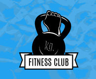 Fitness. Icon for fitness club center gym Stock Photo