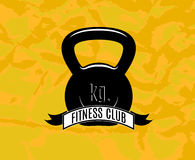 Fitness. Icon for fitness club center gym Royalty Free Stock Image