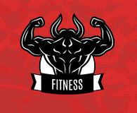 Fitness. Icon for fitness club center gym Stock Images