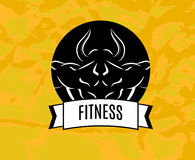 Fitness. Icon for fitness club center gym Royalty Free Stock Images