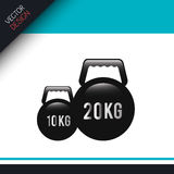 Fitness icon design Royalty Free Stock Images