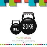 Fitness icon design Royalty Free Stock Photos