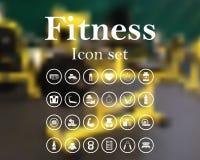 Fitness icon set Stock Photos