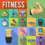 Fitness Icon Set Stock Photography