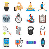 Fitness Icon Set Royalty Free Stock Image