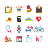 Fitness icon set Stock Images