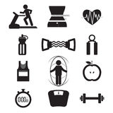 Fitness Icon Set Royalty Free Stock Photo