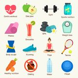 Fitness icon set Royalty Free Stock Photography