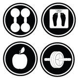 Fitness icon symbols. �2 Stock Images