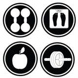 Fitness icon symbols. №2 Stock Images