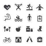 Fitness icon Royalty Free Stock Photography