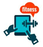 Fitness icon. On white for web and mobile Royalty Free Stock Photo