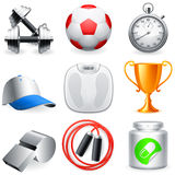 Fitness icons. Stock Photography