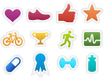 Fitness Icons. Collection of colorful fitness icons vector illustration