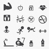 Fitness icons Stock Photography