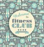 Fitness Icons background with typography. Royalty Free Stock Photography