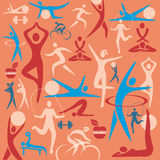 Fitness icons decorative background Stock Photography