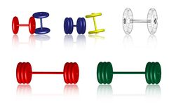 Fitness icons - Dumbbells - Vector Royalty Free Stock Photos