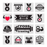 Fitness icons Stock Photos