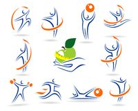 Fitness icons and elements colection Stock Image
